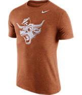 Men's Nike Texas Longhorns College Tri-Blend Logo Plus T-Shirt