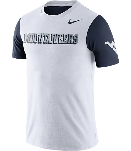 Men's Nike West Virginia Mountaineers College Tri-Blend Logo Plus T-Shirt