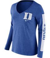 Women's Nike Duke Blue Devils College Tri-Blend Modern T-Shirt