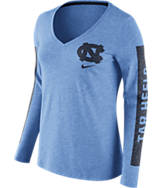 Women's Nike North Carolina Tar Heels College Tri-Blend Modern T-Shirt