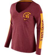 Women's Nike USC Trojans College Tri-Blend Modern T-Shirt