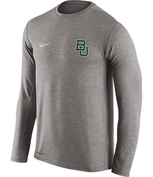 Men's Nike Baylor Bears College Dri-FIT Touch Long-Sleeve T-Shirt