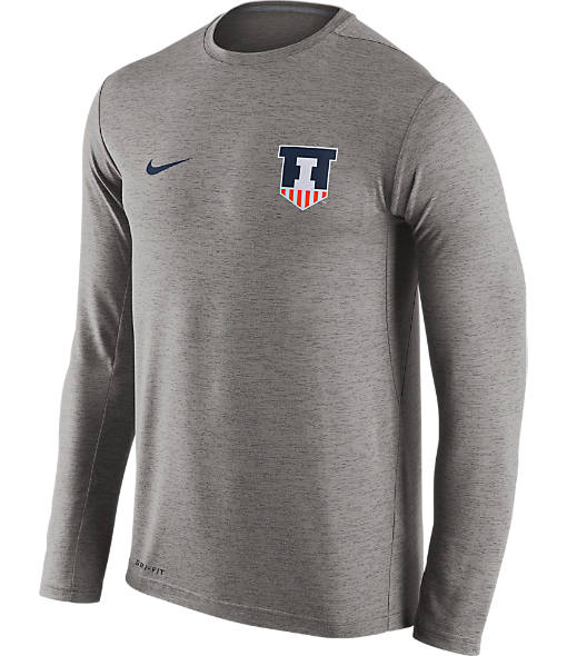 Men's Nike Illinois Fighting Illini College Dri-FIT Touch Long-Sleeve T-Shirt
