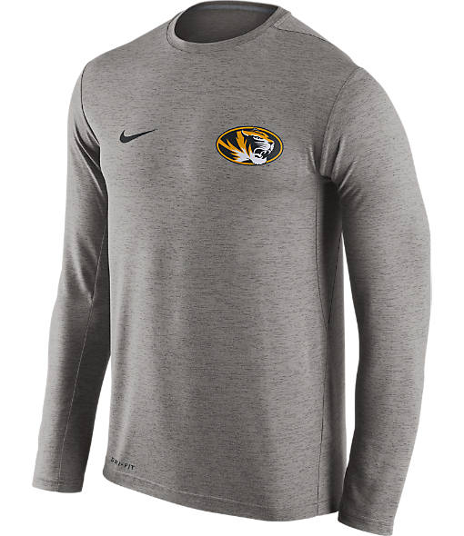 Men's Nike Missouri Tigers College Dri-FIT Touch Long-Sleeve T-Shirt
