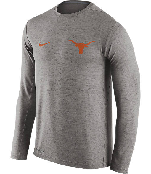 Men's Nike Texas Longhorns College Dri-FIT Touch Long-Sleeve T-Shirt