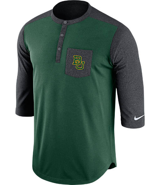 Men's Nike Baylor Bears College Dri-FIT Touch Henley Shirt