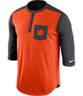 Men's Nike Clemson Tigers College Dri-FIT Touch Henley Shirt