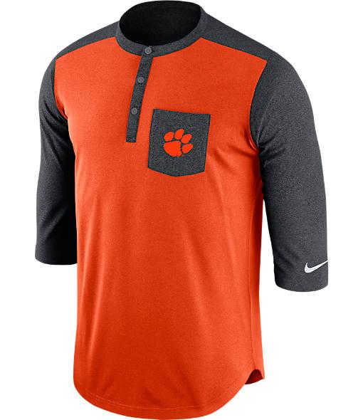 Men's Nike Clemson Tigers College Dri-FIT Touch Henley Shirt
