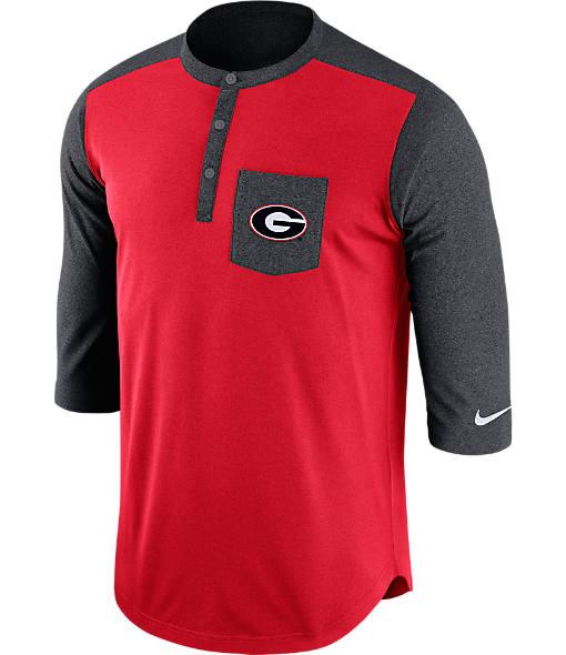 Men's Nike Georgia Bulldogs College Dri-FIT Touch Henley Shirt