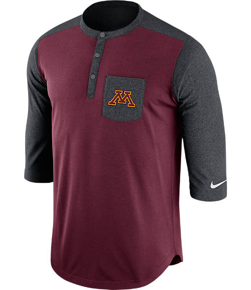 Men's Nike Minnesota Golden Gophers College Dri-FIT Touch Henley Shirt