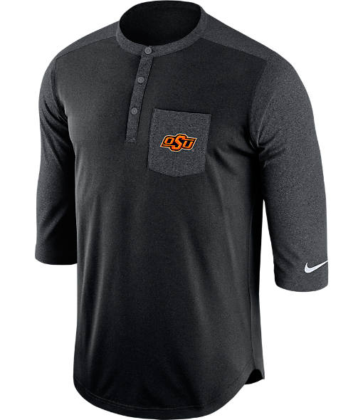 Men's Nike Oklahoma State Cowboys College Dri-FIT Touch Henley Shirt