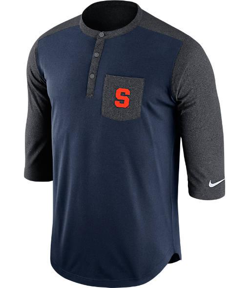 Men's Nike Syracuse Orange College Dri-FIT Touch Henley Shirt