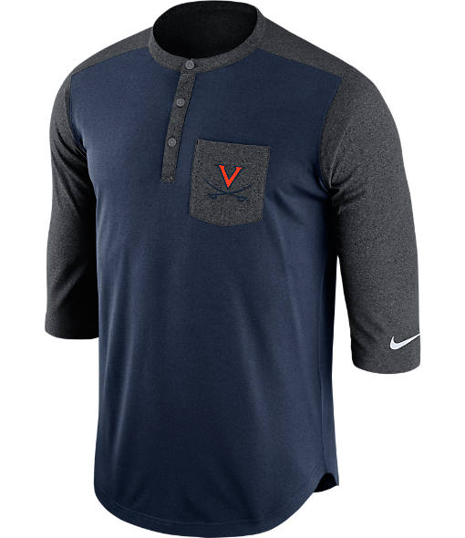 Men's Nike Virginia Cavaliers College Dri-FIT Touch Henley Shirt