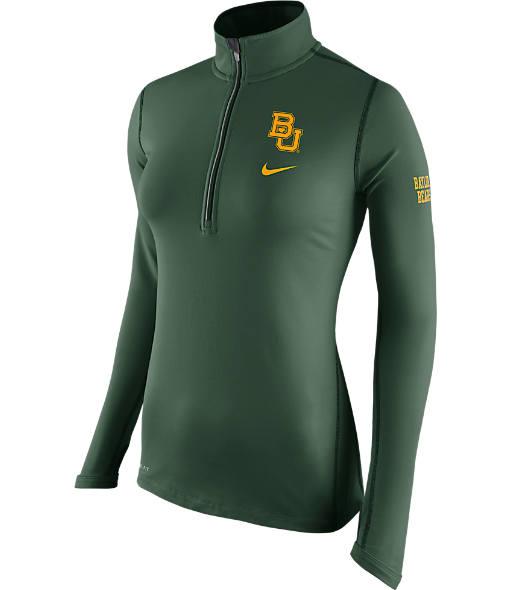 Women's Nike Baylor Bears College Tailgate Half-Zip Jacket