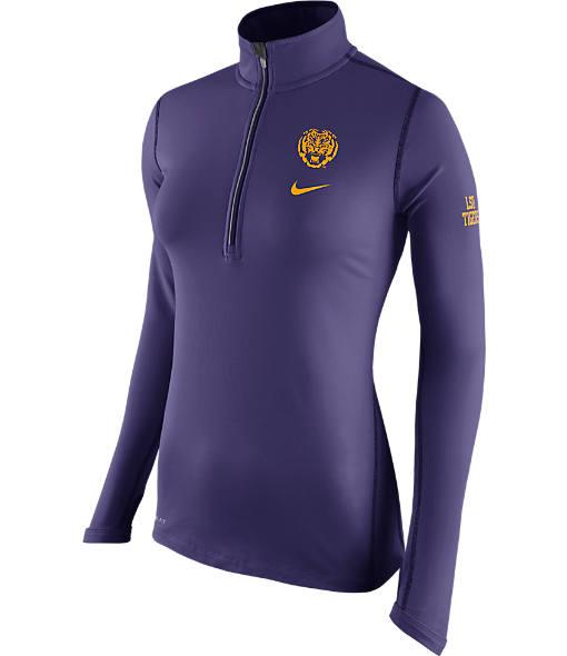 Women's Nike LSU Tigers College Tailgate Half-Zip Jacket