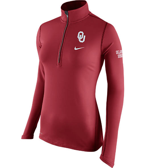 Women's Nike Oklahoma Sooners College Tailgate Half-Zip Jacket