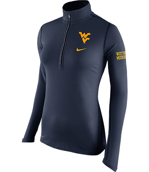 Women's Nike West Virginia Mountaineers College Tailgate Half-Zip Jacket