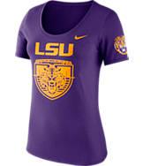 Women's Nike LSU Tigers College Campus Scoop T-Shirt