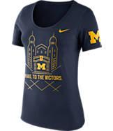 Women's Nike Michigan Wolverines College Campus Scoop T-Shirt