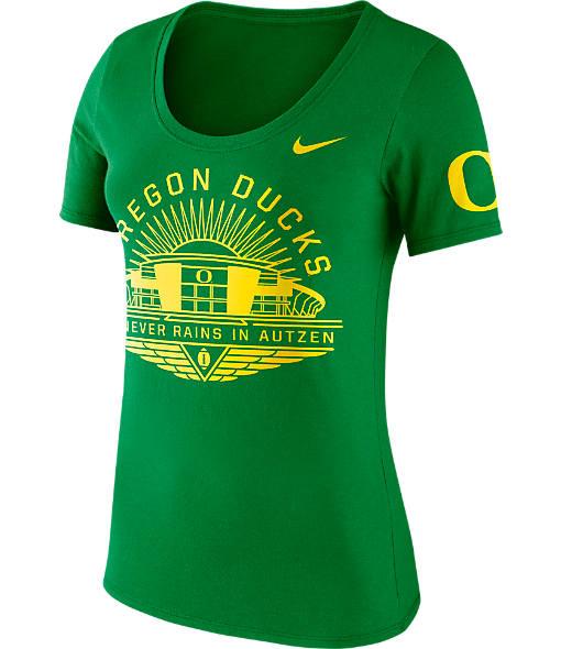 Women's Nike Oregon Ducks College Campus Scoop T-Shirt