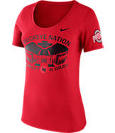 Women's Nike Ohio State Buckeyes College Campus Scoop T-Shirt