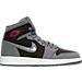 Right view of Girls' Grade School Air Jordan Retro 1 High (3.5y-9.5y) Basketball Shoes in Cool Grey/Vivid Pink-Black-White -