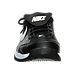 Front view of Nike Air Diamond Trainer Men's Baseball Shoe in Black/White/Metallic Silver