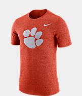 Men's Nike Clemson Tigers College Marled Logo T-Shirt