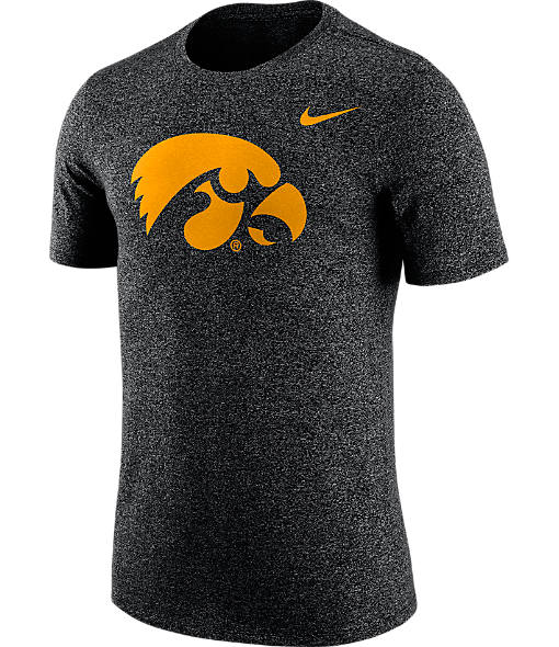 Men's Nike Iowa Hawkeyes College Marled Logo T-Shirt