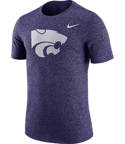 Men's Nike Kansas State Wildcats College Marled Logo T-Shirt