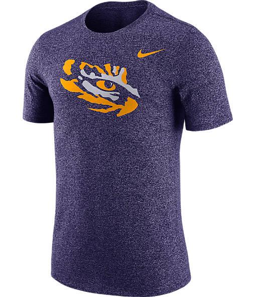Men's Nike LSU Tigers College Marled Logo T-Shirt