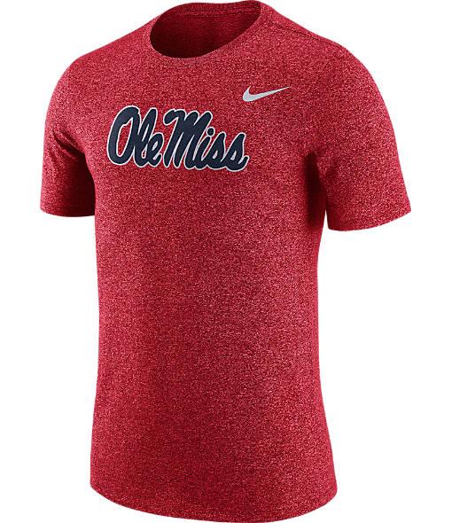 Men's Nike Ole Miss Rebels College Marled Logo T-Shirt
