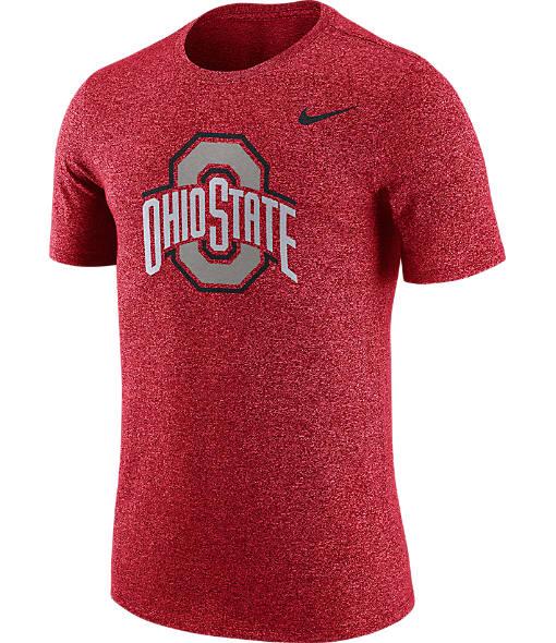Men's Nike Ohio State Buckeyes College Marled Logo T-Shirt
