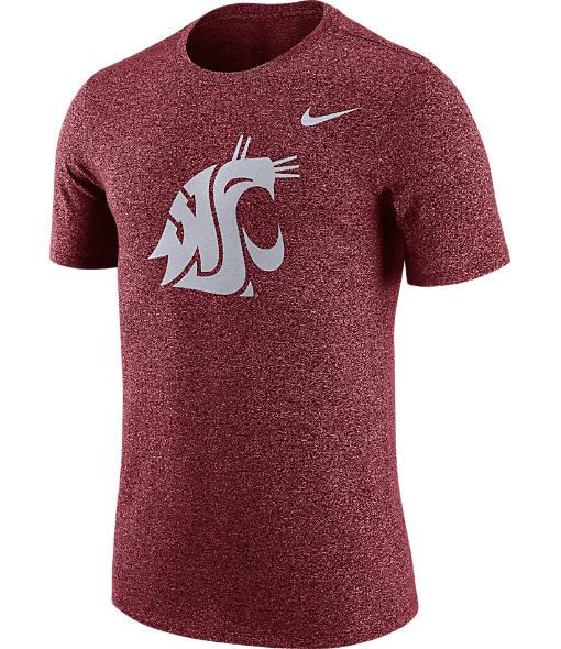 Men's Nike Washington State Cougars College Marled Logo T-Shirt