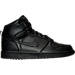 Right view of Men's Nike Big Nike High Casual Shoes in Black/Black/Black