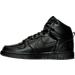 Left view of Men's Nike Big Nike High Casual Shoes in Black/Black/Black
