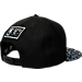 Back view of New Era Chicago Bulls NBA Composition Hook Snapback Hat in Black