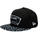 Front view of New Era San Antonio Spurs NBA Composition Hook Snapback Hat in Black