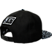 Back view of New Era San Antonio Spurs NBA Composition Hook Snapback Hat in Black