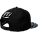 Back view of New Era New York Knicks NBA Composition Hook Snapback Hat in Black