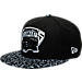 Front view of New Era Memphis Grizzlies NBA Composition Hook Snapback Hat in Black