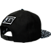 Back view of New Era Memphis Grizzlies NBA Composition Hook Snapback Hat in Black