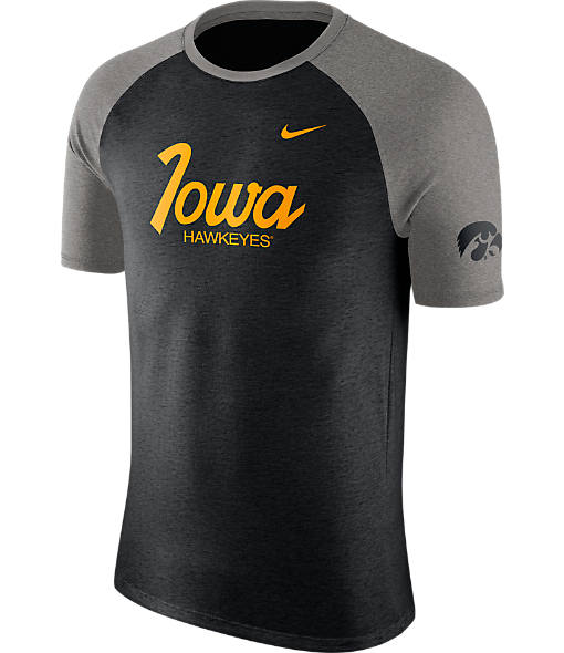 Men's Nike Iowa Hawkeyes College Script Tri-Blend Raglan Shirt