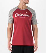 Men's Nike Oklahoma Sooners College Script Tri-Blend Raglan Shirt