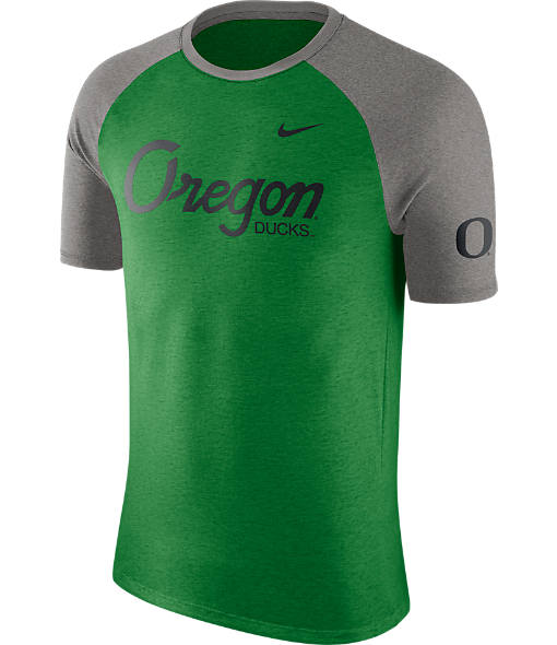 Men's Nike Oregon Ducks College Script Tri-Blend Raglan Shirt
