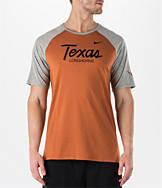 Men's Nike Texas Longhorns College Script Tri-Blend Raglan Shirt