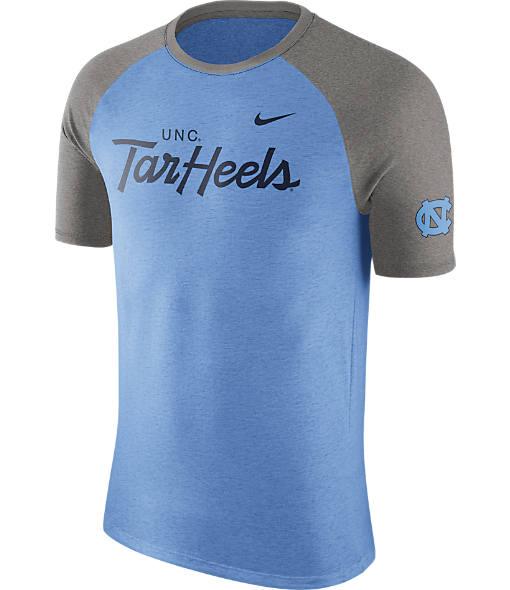 Men's Nike UNC Tar Heels College Script Tri-Blend Raglan Shirt