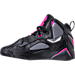 Left view of Girls' Grade School Jordan True Flight (3.5y-9.5y) Basketball Shoes in Black/Dark Grey/Deadly Pink