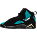 Left view of Girls' Grade School Jordan True Flight (3.5y-9.5y) Basketball Shoes in Black/Rio Teal/Metallic Gold