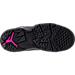 Bottom view of Girls' Preschool Jordan True Flight Basketball Shoes in Black/Dark Grey/Deadly Pink